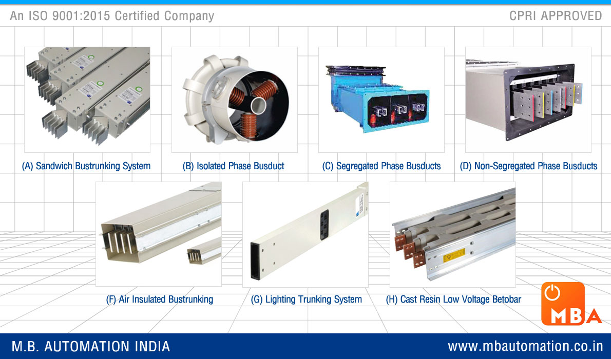 power busbars busducts Sandwich bustrunking manufacturers exporters in india